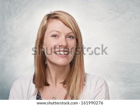 Beautiful happy smiling woman modern portrait  - stock photo