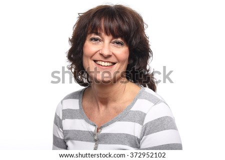 Beautiful Happy woman - stock photo
