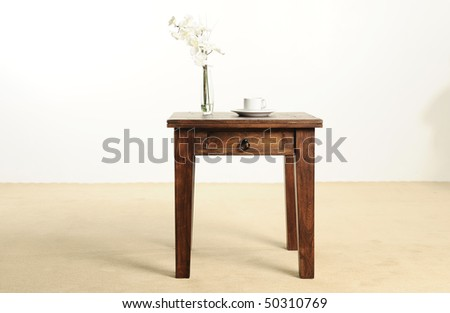 beautiful hard wood furniture - stock photo
