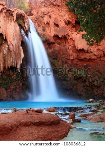 Beautiful Havasu Falls, Arizona - stock photo