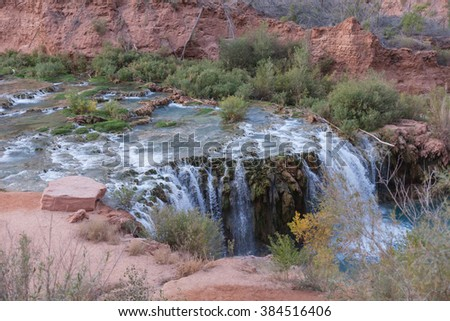 Beautiful Havasu Falls - Grand Canyon Arizona - stock photo