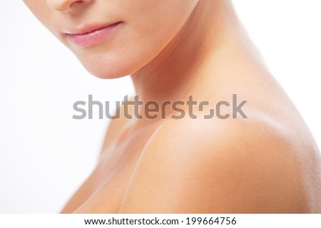 Beautiful head and shoulders - stock photo