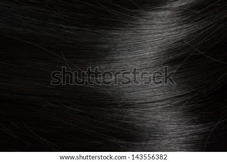 Beautiful healthy black hair - close up - stock photo