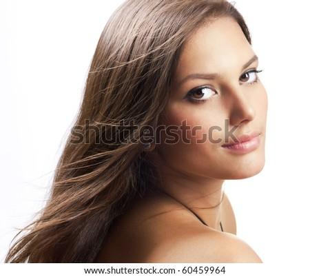 Beautiful Healthy Girl portrait - stock photo