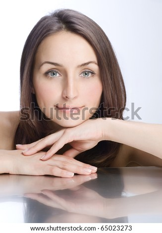 Beautiful Healthy Woman portrait - stock photo