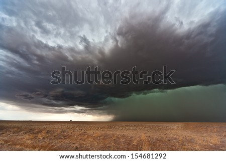 Beautiful heavy weather landscape