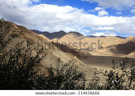 Beautiful Himalayan mountains in Ladakh, India - stock photo