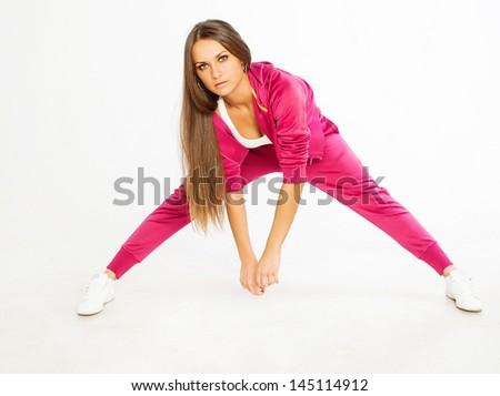 beautiful hip-hop dancer - stock photo