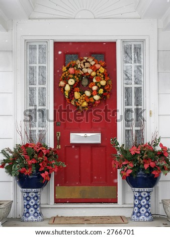 beautiful holiday entrance - stock photo