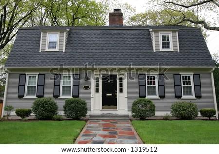 beautiful home - stock photo