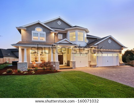 Beautiful Home Exterior Stock Photo (Royalty Free) 160071032 ...