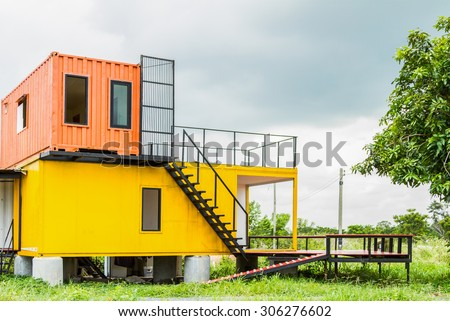 Beautiful Home Exterior for design background. - stock photo