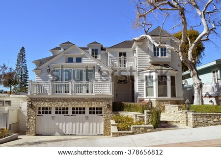 Manhattan beach stock images royalty free images for Beautiful homes and great estates pictures
