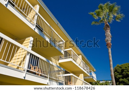 Beautiful hotel at Summer in San Diego, CA - stock photo
