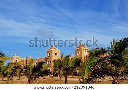 beautiful hotel resort at Sal islape Verde - stock photo