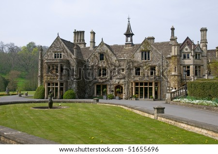 Beautiful House and Garden - stock photo