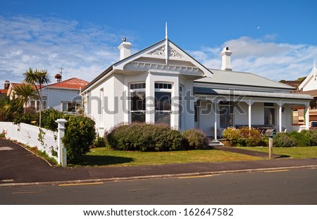 Beautiful house in Auckland, New Zealand. - stock photo