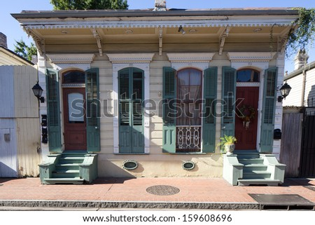 Beautiful House in French Quarter of New Orleans, Louisiana - stock photo