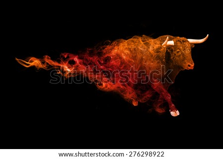 beautiful image of a bull.. animal kingdom. running bull. wildlife picture. great  tattoo. amazing colors. wild animal.