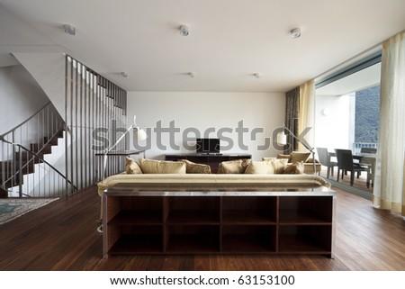 beautiful interior - stock photo