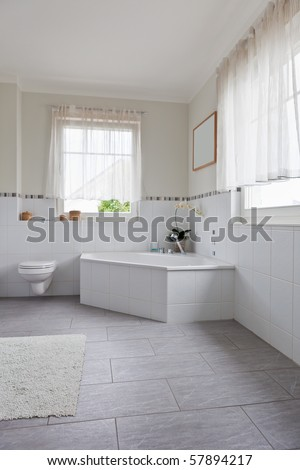 beautiful interior of a modern bathroom - stock photo