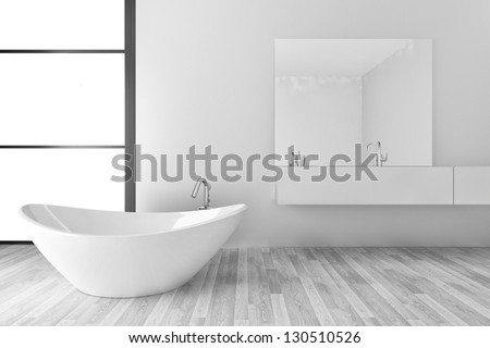 Beautiful Interior of a Modern Bathroom | Interior Architecture - stock photo