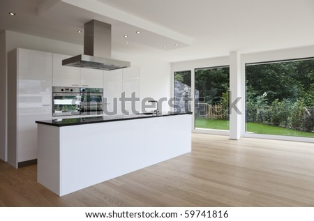 beautiful interior of a modern house - stock photo