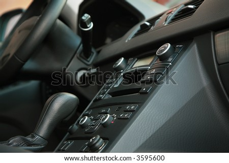 Beautiful interior of the new modern car