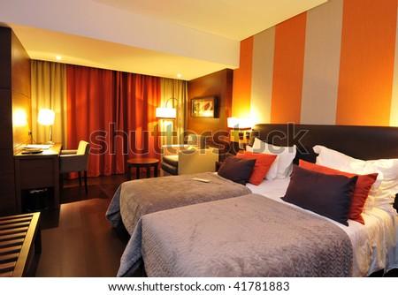 Beautiful interior room - stock photo