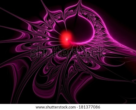 Beautiful intricate oily purple design abstract fractal background