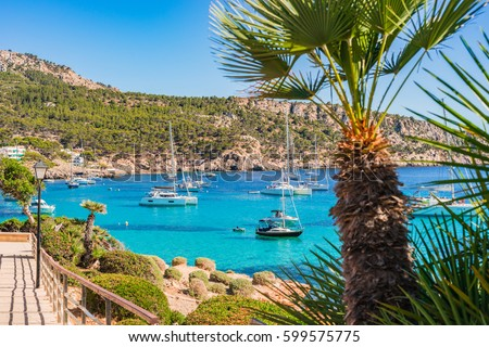 Beautiful Island Scenery Idyllic Coastline Majorca Stock ...