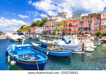 beautiful Italian islands - Procida (Campania) - stock photo