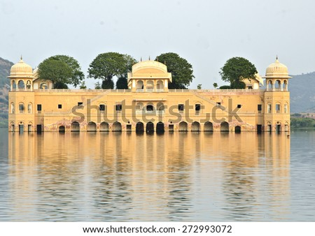 Beautiful jal mahal at jaipur - stock photo