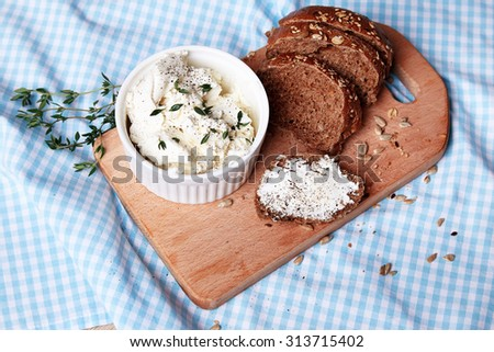 Beautiful juicy ripe natural organic mint sandwich cheese bread cheese cereal spoon board berries oregano thyme, healthy food diet sweet delicious vitamins breakfast lunch dinner tomatoes milk bread  - stock photo