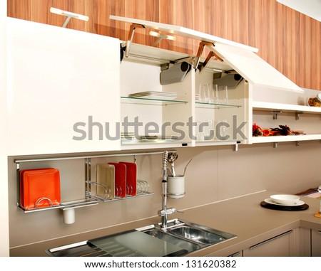 Beautiful kitchen - stock photo