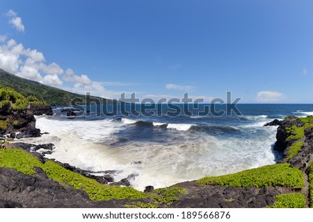 Beautiful Kuloa Point Kipahulu,southeast Haleakala National Park Maui Island Hawaii-2 - stock photo