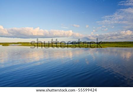 beautiful lake - stock photo
