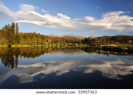 Beautiful Lake And Mountains Near Winter Park, Colorado - stock photo
