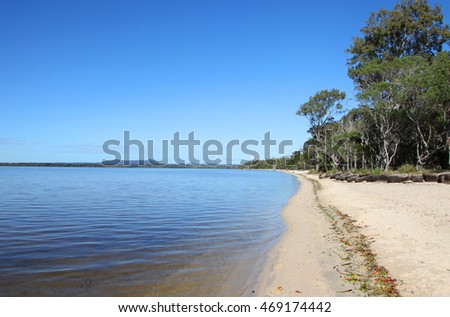Beautiful lake at Boreen Point, Sunshine Coast, Queensland, Australia