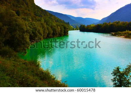 Beautiful lake in the Alps, Slovenia