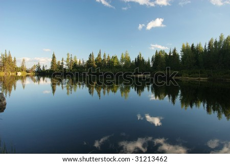 Beautiful lake (Slovakia) - stock photo