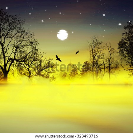 Beautiful landscape - stock photo