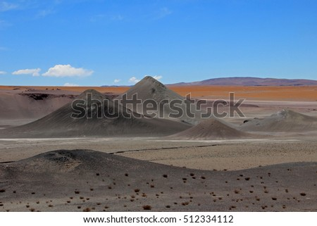 Beautiful landscape and mountains, Atacama desert, near Paso Sico, Chile