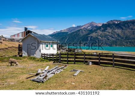 Beautiful landscape at chilean patagonia - stock photo