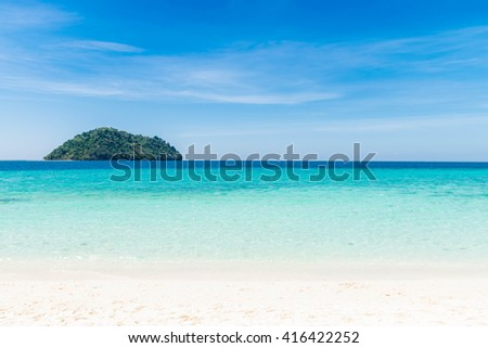 beautiful landscape at seaside - stock photo