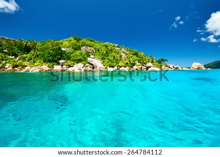 Beautiful landscape at Seychelles, La Digue - stock photo