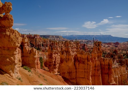 beautiful landscape bryce canyon national park utah - stock photo