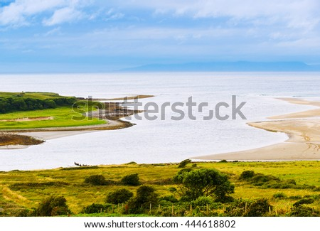 Beautiful landscape coast near the town of Sligo. Ireland - stock photo