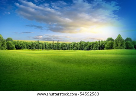 beautiful landscape-environmental conservation concepts - stock photo