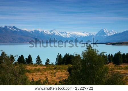 Beautiful landscape from new Zealand - stock photo